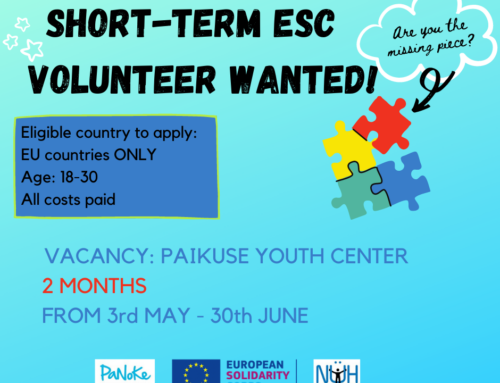 "OPEN PLACEMENT – Short-term ESC volunteering project ""Fellowship of Volunteers"