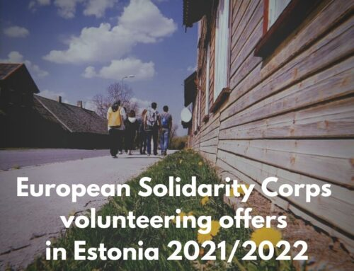 CALL FOR VOLUNTEERS IN EUROPEAN SOLIDARITY CORPS IN ESTONIA